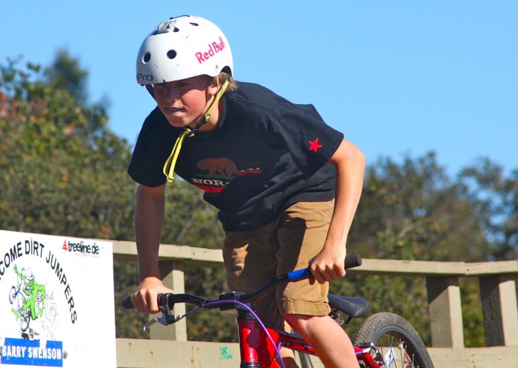 Nathaniel at the Aptos dirt jumps